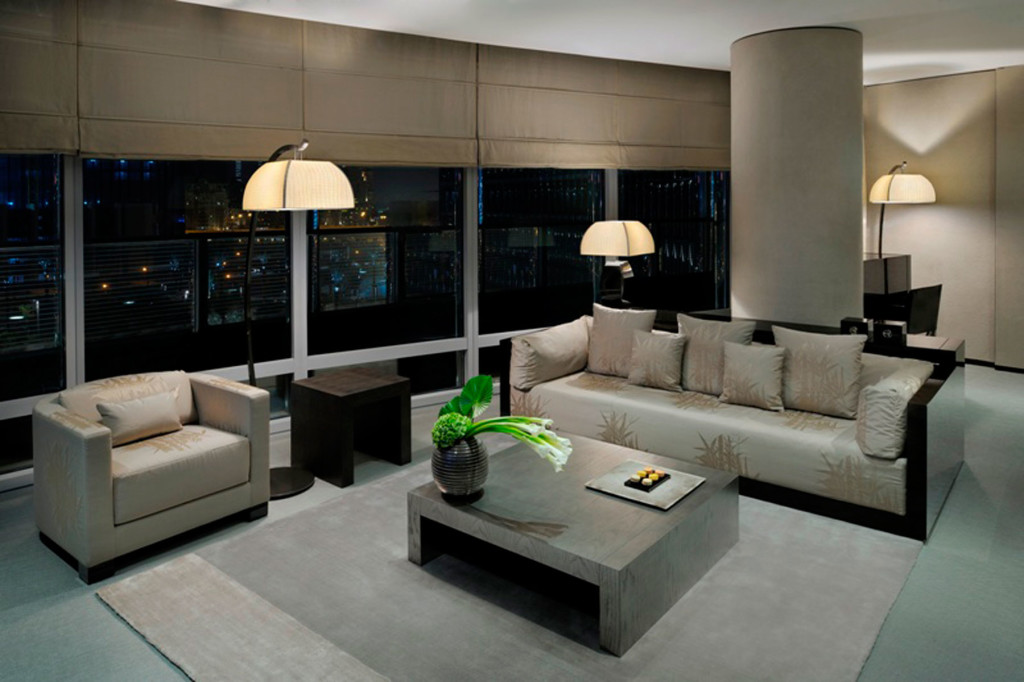 Armani Dubai Suite: The one-of-a-kind Armani Dubai Suite offers 390 square metres of living space personally designed by Giorgio Armani, and exclusively occupying level 39 of the hotel