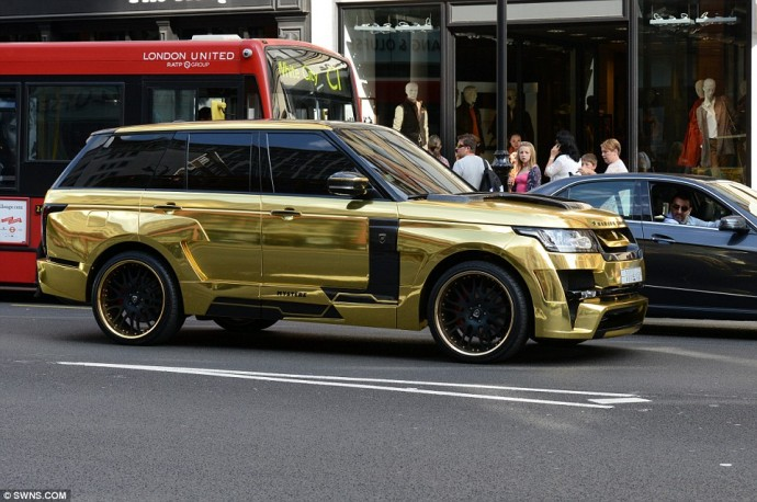 Range Rover Gold Plated