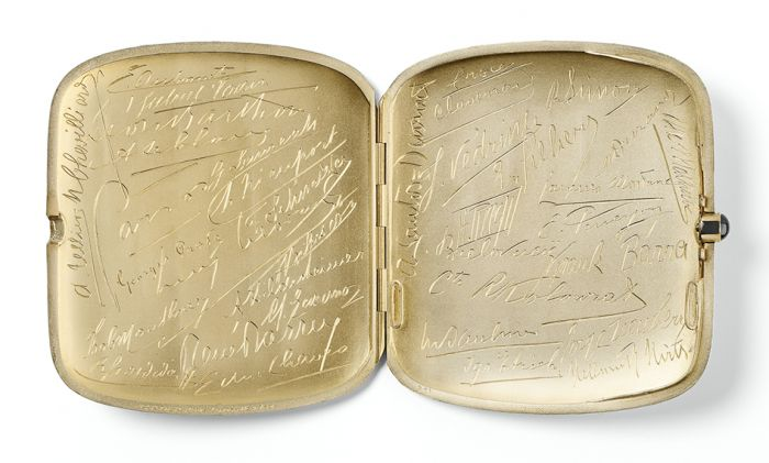 Cartier Cigarette case sold to Willis McCormick, president of Queen Aviation