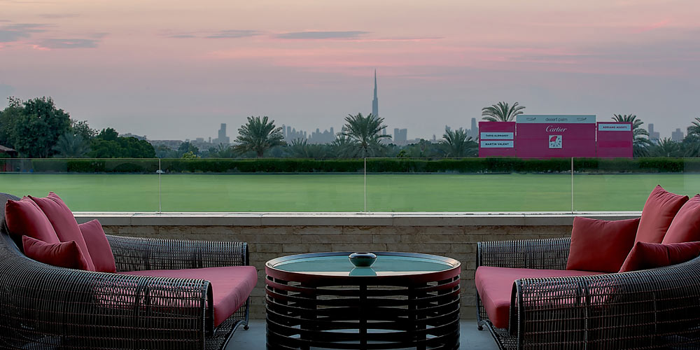 Picture the romance of a lush green polo estate in the middle of Arabia.