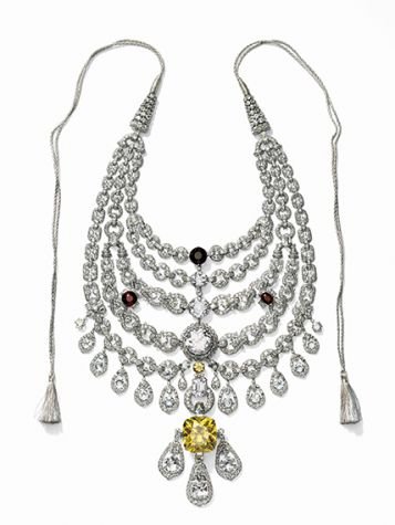 Necklace created for Sir Bhupindra Singh, Maharaja of Patiala. Cartier Paris, special order, 1928.