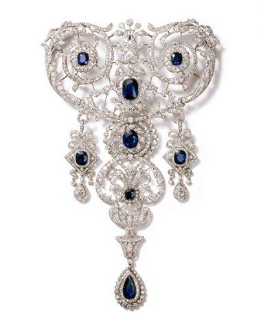 Stomacher brooch. Cartier Paris, special order, 1907