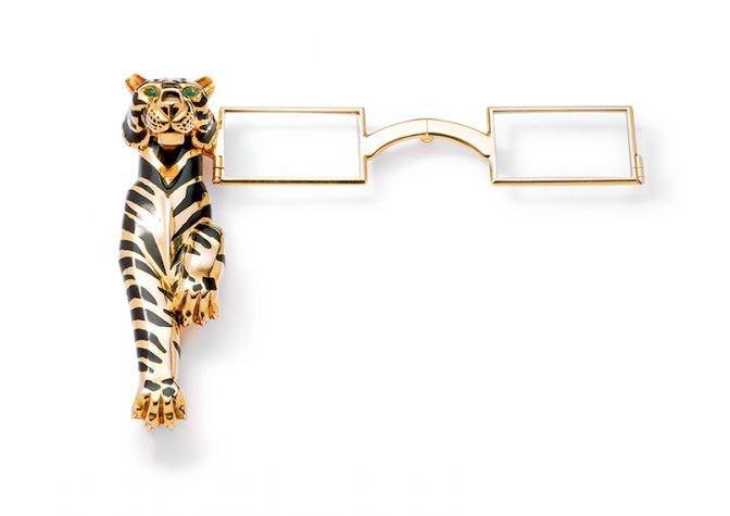 Tiger lorgnette owned by the Duchess of Windsor. Cartier Paris, special order, 1954.