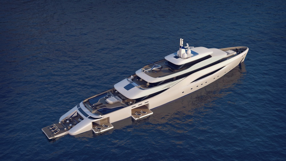 Fincantieri Ottantacinque yacht concept designed by Pininfarina