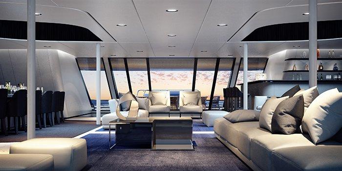 Interior - Fincantieri Ottantacinque yacht concept designed by Pininfarina
