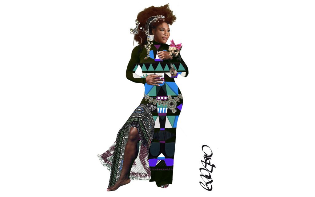 Serena Williams by Christian Lacroix