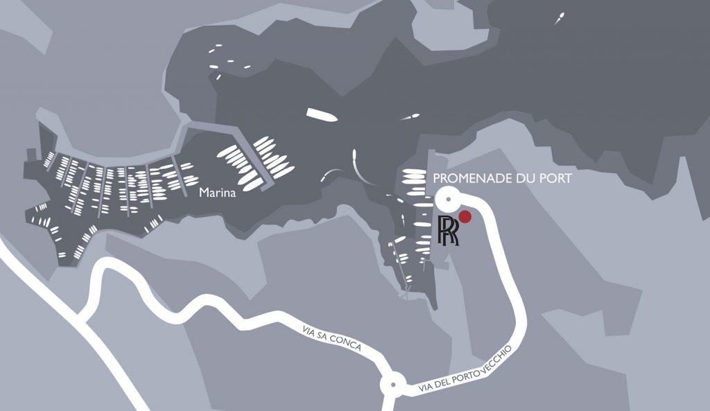 Rolls Royce - Summer in Porto Cervo Map - Legatto Lifestyle